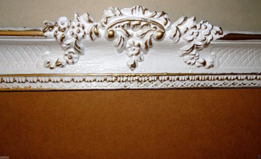 Bilderrahmen Weiß/Gold Barock Gemälderahmen Antik Rokoko 96x57 Rahmen Groß 3074 - Vorschau 2