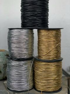 10 Meter Gummiband Silber / 1mm / Gummikordel / Hutgummi / Rundgummi Gummilitze - Vorschau 3