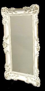 Wandspiegel Barock Weiß-Gold Spiegel Antik 96x57 mit ornamenten Badspiegel -206 - Vorschau 2
