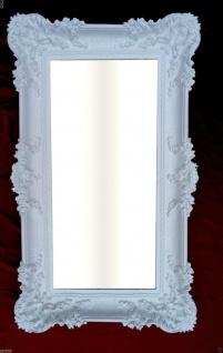 Wandspiegel Barock WEISS Spiegel Repro DEKO 97x57 Groß Flurspiegel Badspiegel