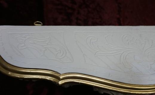 Wandkonsole Antik Wandregal Barock Elfenbein Weiß-gold 50x21cm Konsole Cp51 - Vorschau 4