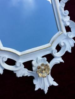 Wandspiegel Barock Weiß gold Spiegel Antik Badspiegel Barspiegel 83x43 Oval C1G - Vorschau 2