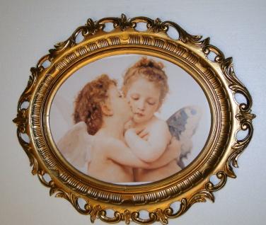 Engels-Kuss Bild mit Engel Baby Schutzengel Bild 58x68 Küssende Engel Paar