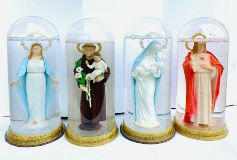 Maria Lourdes ikonen Figur als Deko Glasskugel 19 x 10 x10cm Heilige , Maria - Vorschau 2