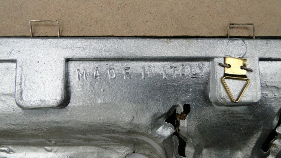 Wandspiegel Antik Silber 57x47 Badspiegel Barock vintage Rechteckig 30x40 - Vorschau 2
