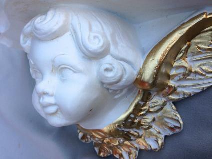 Wandkonsole Wandablage Weiß-Gold Antik Barock Spiegel Konsole 29x13 Wandregal