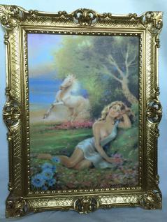 Gemälde Pferd Frau Nackt Frauenakt Aktgemälde Erotisches Bild 90x70cm Rahmen D7
