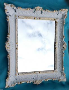 Wandspiegel Weiß-gold Shabby Chic, Barock, Badspiegel 57x47