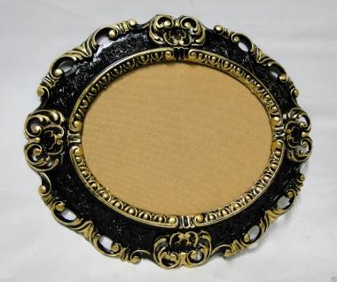 BILDERRAHMEN Schwarz Gold OVAL BILDERRAHMEN ANTIK BAROCK 45X37 Neu