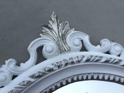 Wandspiegel Antik Silber Oval Badspiegel Barock Spiegel 51X37 Mirror Shabby C496