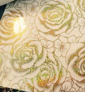 Tischfolie Tischdecke Tischschutz Schutzfolie Gold Rosen REST 90 x 80 cm