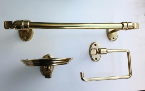 Handtuchhalter Gold Messing Wc Toilette Bad Barock Badaccessoires Seifenspender - Vorschau 2