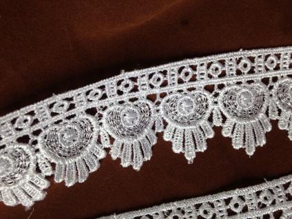 Spitzenborte Weiß Spitzenband 4 cm Häkel-Spitze Kissen Stickerei Angebot
