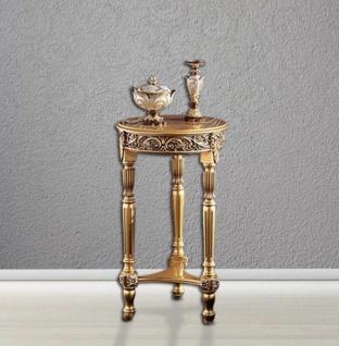 Blumenständer/Hocker Holz 75x48 Antik Beistelltisch Telefontisch Gold Barock