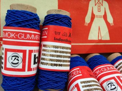 60 Meter Gummifaden Gummilitze Smok Gummifaden Mundbedeckungs Bedarf Nähgarn - Vorschau 4
