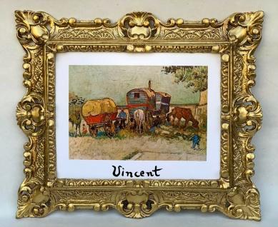 Gypsies with Caravans Van Gogh Bivacco di zingari Wandbild 45x37 Barock Bild