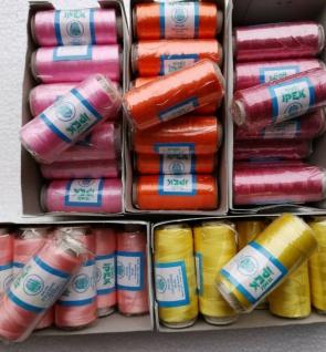 25 Polyestergarn Rosa Altrosa Gelb Reißfest Spitze Stickgarn Multicolor restpost