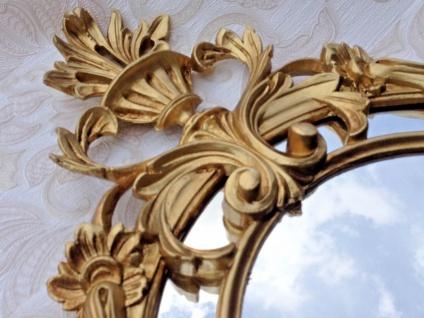 Wandspiegel Rund Gold Barock Jugendstil 56x36 Badspiegel Antik Flurspiegel
