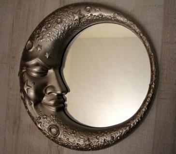 Wandspiegel Kinderzimmerspiegel Mondschein BADSPIEGEL 32CM Silber Mondspiegel