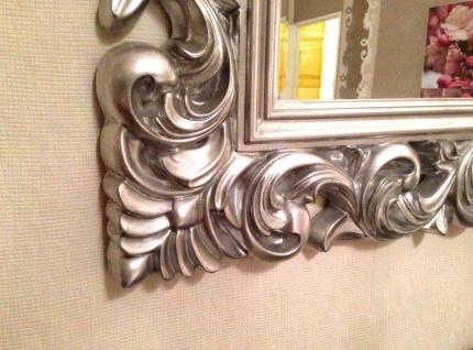 Wandspiegel Antik Silber 120 x 90 CM Barock Friseurspiegel Spiegel Ornamente - Vorschau 2