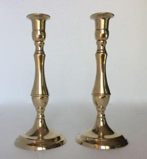2 x Kerzenleuchter Messing Kerzenständer gold Kerzenhalter 20cm 80335