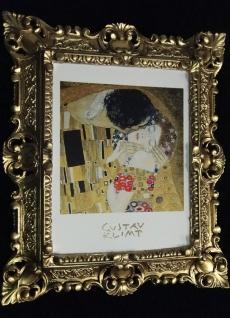 Bilder mit Rahmen Kunstdruck Gustav Klimmt der Kuss 45x37 Barockrahmen - Vorschau 5