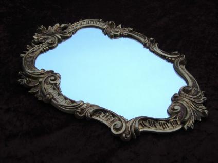 Wandspiegel Barock Gold Oval Vintage Badspiegel Antik 49X33 Rokoko C443