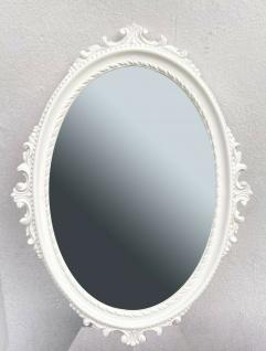 Wandspiegel Weiß Antik Stil Oval Barock Badspiegel Spiegel 62x48cm Flurspiegel