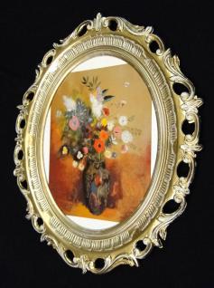 Gemälde Blumen Bilder Blumen Vase Bilderrahmen groß 58X68 Bild mit Rahmen y801gw