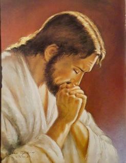 Heilige Bild Jesus Christus mit Goldschimmel 30x40 Religiöse Bilder Ikonen Jesu