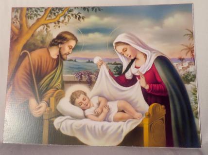 Heilige Bild Maria Josef Ikonen Jesus Geburt 30x40 Madonnen bild Mutter Gottes