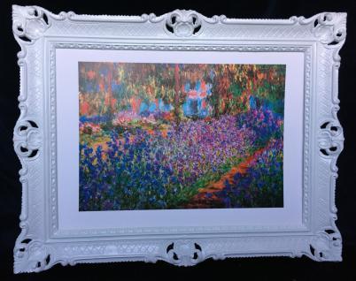 Claude Monet Garden Landschafts Bild Blumen 90x70cm Jardin a Giverny SS72084