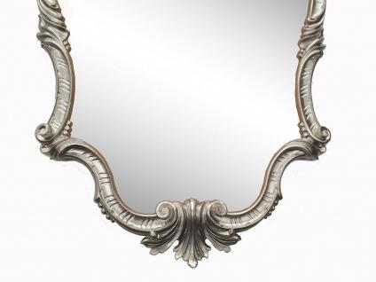 WANDSPIEGEL Antik Silber Oval 99x55 Antik Spiegel Barock Friseurspiegel C410 NEU - Vorschau 3