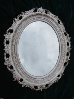Wandspiegel Barock Oval Antik Silber Badspiegel 58x68 Flurspiegel Shabby