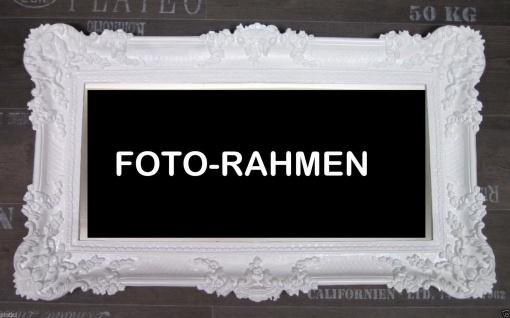 Bilderrahmen Weiß groß Hochzeitsrahmen Antik 96x57 Gemälderahmen BAROCK NEU