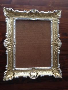 Italienischer Rahmen Gold-Weiß Bilderrahmen Barock 57x47 Antik Fotorahmen Neu - Vorschau 2
