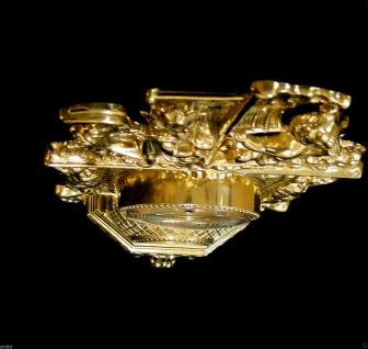 Kaminuhr Messing Tischuhr Antik Barock Gold 42cm Massiv Neu - Vorschau 4