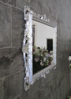 Wandspiegel Barock Silber Hochglanz 38x36 Kosmetikspiegel Antik Badspiegel - Vorschau 4
