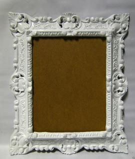 Bilderrahmen Fotorahmen Weiß Barock Rechteckig 45x37 Rahmen Antik mit Rückwand - Vorschau 3