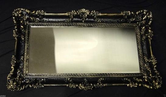 Bilderrahmen Schwarz-Gold Barock Spiegelrahmen 97x57 Gemälderrahmen Groß 3074