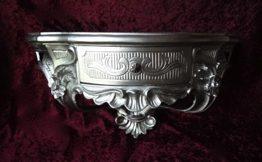 Wandkonsole/Spiegelkonsolen/Wandregal Alt Silber BAROCK B:50cm cp84 Antik Silber