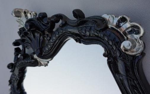 Wandspiegel Schwarz-Silber Antik Badspiegel 54X37 Shabby Barock Spiegel c499