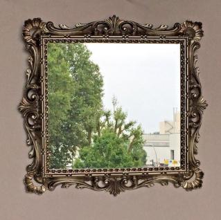 Wandspiegel Barock Antik Silber 38x36 Kosmetikspiegel Badspiegel Friseurspiegel