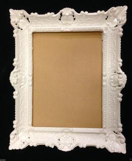 Bilderrahmen WEIß Barock Fotorahmen Antik Hochzeitsrahmen 56x46 Gemälderahmen