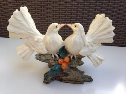Restposten Brieftauben Paar Figuren 24cm Weiße Tauben Vogel Statue Sonderposten - Vorschau 5
