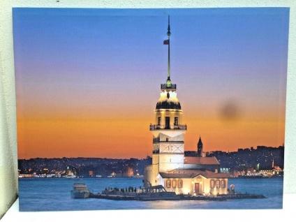 LED Bild + Beleuchtung Leinwand Istanbul Kizkulesi Wandbild Leuchtbild 60x80