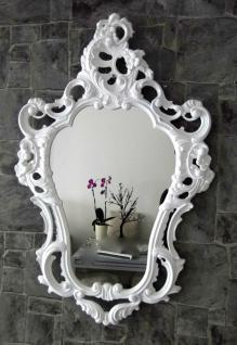 Wandspiegel Weiß ornamente Antik Spiegel Barock Shabby oval Badspiegel 50x76
