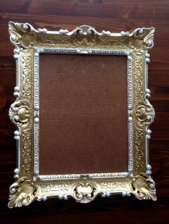 Bilderrahmen Gold Weiß barock 56x46 Fotorahmen Antik Rahmen 30x40