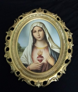 Bild mit Rahmen Heiligenbilder Gemälde Heilige Maria Mutter Gottes 58X68 Madonna