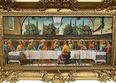 Das Letzte Abendmahl Bild Jesus 97x58 Wandbild Christus Leonardo Da Vinci 2